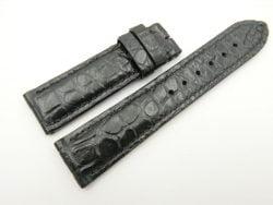 22mm/20mm Black Genuine CROCODILE Skin Leather Watch Strap #WT2449