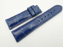 22mm/20mm Blue Genuine CROCODILE Skin Leather Watch Strap #WT2452
