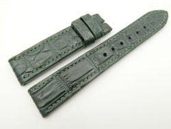 20mm/18mm Green Genuine CROCODILE Skin Leather Watch Strap #WT2463