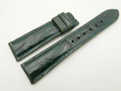 21mm/18mm Green Genuine CROCODILE Skin Leather Watch Strap #WT2473
