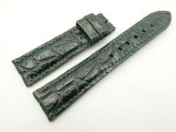 21mm/18mm Green Genuine CROCODILE Skin Leather Watch Strap #WT2474