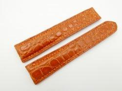 21mm/18mm Orange Genuine CROCODILE Skin Leather Deployment Strap for OMEGA Watch #WT2543