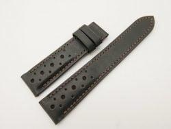 20mm/18mm Black Genuine Vegtan Calf Leather Watch Strap #WT2831