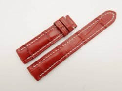 17mm/16mm Red Genuine Crocodile Skin Leather Watch Strap #WT2721