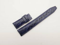 21mm/18mm Navy blue Genuine Ostrich Skin Leather Watch Strap Deployment Band for IWC #WT2724