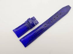 21mm/18mm Blue Genuine Lizard Skin Leather Watch Strap Deployment Band for IWC #WT2727