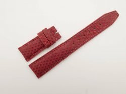 21mm/18mm Red Genuine Lizard Skin Leather Watch Strap Deployment Band for IWC #WT2728