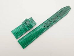 21mm/18mm Jade Green Genuine Lizard Skin Leather Watch Strap Deployment Band for IWC #WT2730