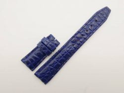 21mm/18mm Navy Blue Genuine Crocodile Skin Leather Deployment Strap for IWC #WT2742