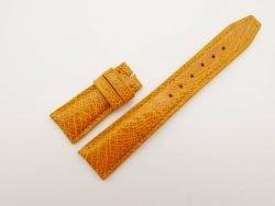 22mm/18mm Orange Genuine Ostrich Skin Leather Deployment Strap For IWC #WT2743