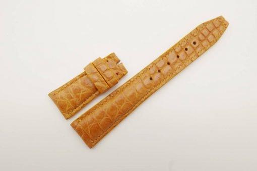 22mm/18mm Tan Brown Genuine Crocodile Skin Leather Watch Strap for IWC #WT2752