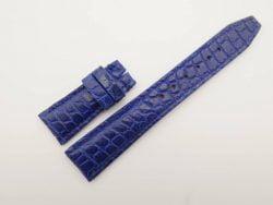 22mm/18mm Blue Genuine Crocodile Skin Leather Watch Strap for IWC #WT2757