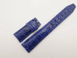 22mm/18mm Blue Genuine Crocodile Skin Leather Watch Strap for IWC #WT2759