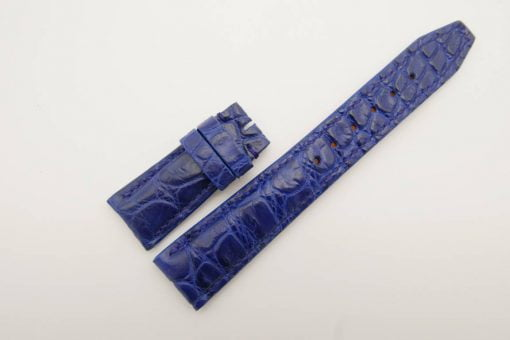 22mm/18mm Blue Genuine Crocodile Skin Leather Watch Strap for IWC #WT2759