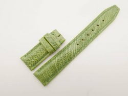 20mm/18mm Green Genuine Ostrich Leather Deployment Strap for IWC Watch #WT2766