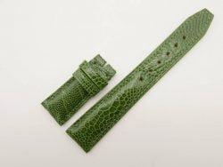 20mm/18mm Dark Green Genuine Ostrich Leather Deployment Strap for IWC Watch #WT2767