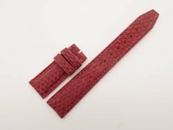 20mm/18mm Red Genuine Lizard Leather Deployment Strap for IWC Watch #WT2768