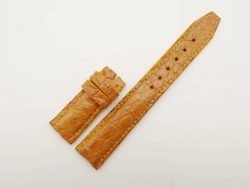 20mm/18mm Tan Brown Genuine Crocodile Leather Deployment Strap for IWC Watch #WT2772