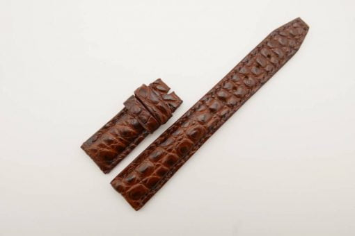 20mm/18mm Red Brown Genuine Crocodile Leather Deployment Strap for IWC Watch #WT2774