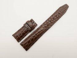20mm/18mm Dark Brown Genuine Crocodile Leather Deployment Strap for IWC Watch #WT2776