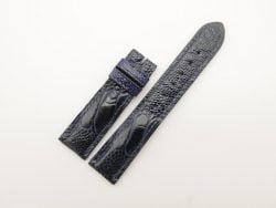20mm/18mm Dark Navy Blue Genuine OSTRICH Skin Leather Watch Strap #WT2791