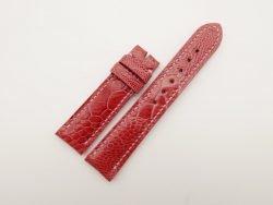 20mm/18mm Red Genuine OSTRICH Skin Leather Watch Strap #WT2796