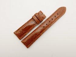 20mm/18mm Cognac Genuine OSTRICH Skin Leather Watch Strap #WT2798