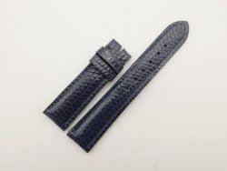 20mm/18mm Dark Navy Blue Genuine Lizard Skin Leather Watch Strap #WT2803