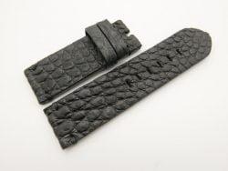26mm/26mm Black Genuine Crocodile Skin Leather Watch Strap for PANERAI #WT2855