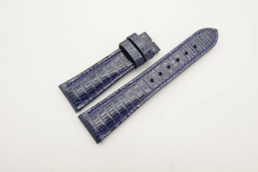 22mm/18mm Navy Blue Genuine Lizard Skin Leather Watch Strap #WT2876