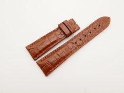 22mm/18mm Red Brown Genuine Crocodile Skin Leather Watch Strap #WT2890