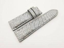 24mm/22mm Vintage Grey Genuine PYTHON Skin Leather Watch Strap for PANERAI #WT2928
