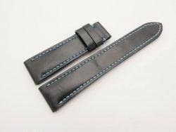 20mm/18mm Black Genuine Vegtan Calf Leather Watch Strap 110/70mm #WT2933