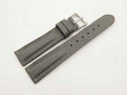 18mm/16mm Grey Genuine EPSOM Calf Skin Leather Watch Strap #WT2935