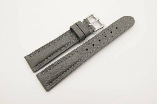 18mm/16mm Grey Genuine EPSOM Calf Skin Leather Watch Strap #WT2935