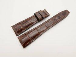 22mm/18mm Brown Genuine Crocodile Skin Leather Watch Strap for IWC 100/75mm #WT2939