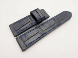 24mm/22mm Dark Navy Blue Genuine CROCODILE Skin Leather Watch Strap for Panerai #WT2966