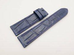 22mm/20mm Navy Blue Genuine CROCODILE Skin Leather Watch Strap #WT2977