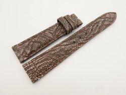 19mm/16mm Dark Brown Genuine OSTRICH Skin Leather Stonewash Watch Strap #WT2988