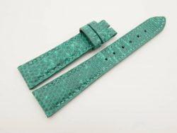 19mm/16mm Jade Green Genuine LIZARD Skin Leather Stonewash Watch Strap #WT2990