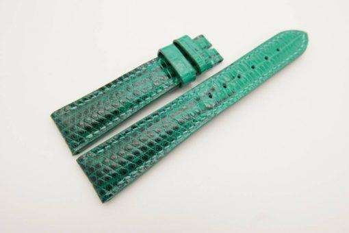 19mm/16mm Jade Green Genuine LIZARD Skin Leather Watch Strap #WT2991