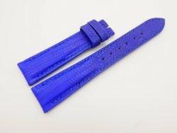 19mm/16mm Light Blue Genuine LIZARD Skin Leather Watch Strap #WT2992