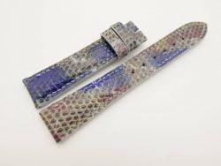 19mm/16mm Rainbow Genuine LIZARD Skin Leather Stonewash Watch Strap #WT2996