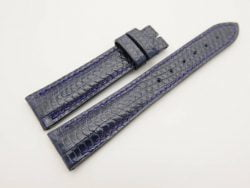 19mm/16mm Dark Navy Blue Genuine LIZARD Skin Leather Watch Strap #WT2997