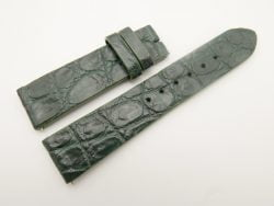 22mm/20mm Green Genuine CROCODILE Skin Leather Watch Strap #WT3061
