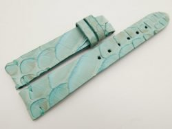 18mm/16mm Baby Blue Genuine Python Skin Leather Watch Strap #WT3071