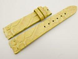 18mm/16mm Yellow Genuine Python Skin Leather Watch Strap #WT3072