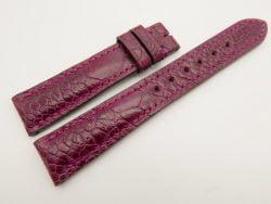 18mm/16mm Purple Genuine Ostrich Skin Leather Watch Strap #WT3077