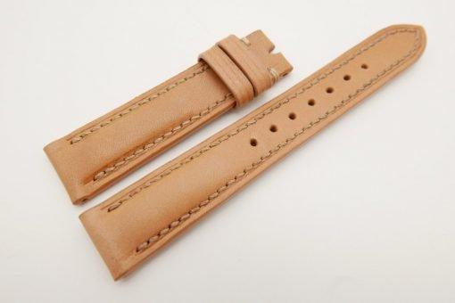 18mm/16mm Beige Genuine Vegtan CALF Skin Leather Watch Strap #WT3081