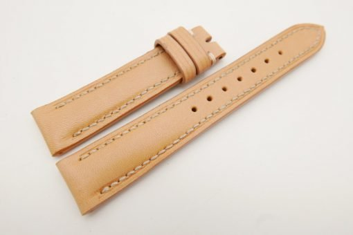 18mm/16mm Beige Genuine Vegtan CALF Skin Leather Watch Strap #WT3082